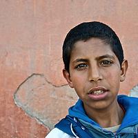 Portrait of a boy, Marrakesh, Morocco.