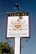 Pub Signs, The Wheelwrights Arms, kippings Cross, Kent, Britain