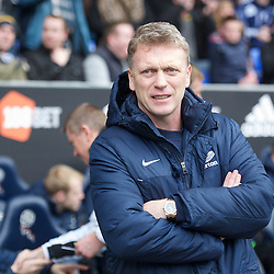 BOLTON, ENGLAND - Saturday, January 26, 2013: Everton's manager David Moyes takes charge of his 500th game for the Blues during the FA Cup 4th Round match against Bolton Wanderers at the Reebok Stadium. (Pic by David Rawcliffe/Propaganda)