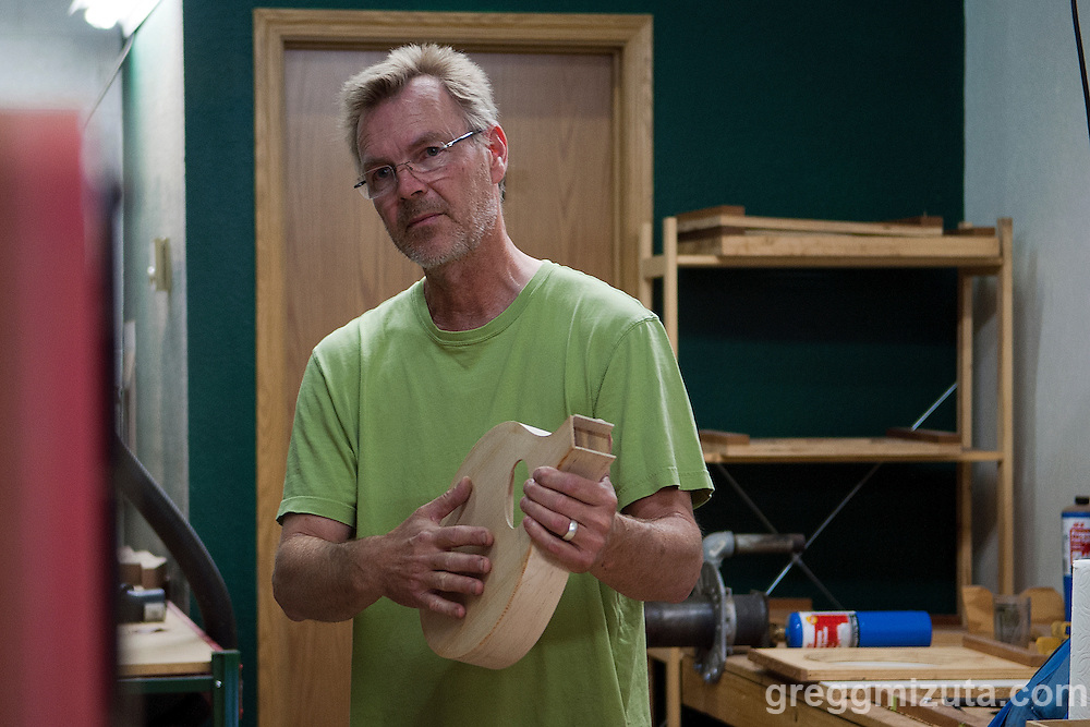 James Wilson of Red Valley Mandolins explains the construction of his handcrafted mandolins. Jodi Eichelberger's ST(r)EAM Artist Studio/Gallery bike tour in the Surel Mitchell Live-Work-Create District in Garden City, Idaho on June 18, 2016.<br /> <br /> Tour started at the studios of Susan Madacsi, April VanDeGrift, Erin Cunningham, and continued to Ken McCall Studios, James &amp; Matt Wilson of Red Valley Mandolins, Arin Arthur, Angie Bowling Sebolt, Belinda Isley, Matt Herberg, Lisa Roggenbuck and the Visual Arts Collective.
