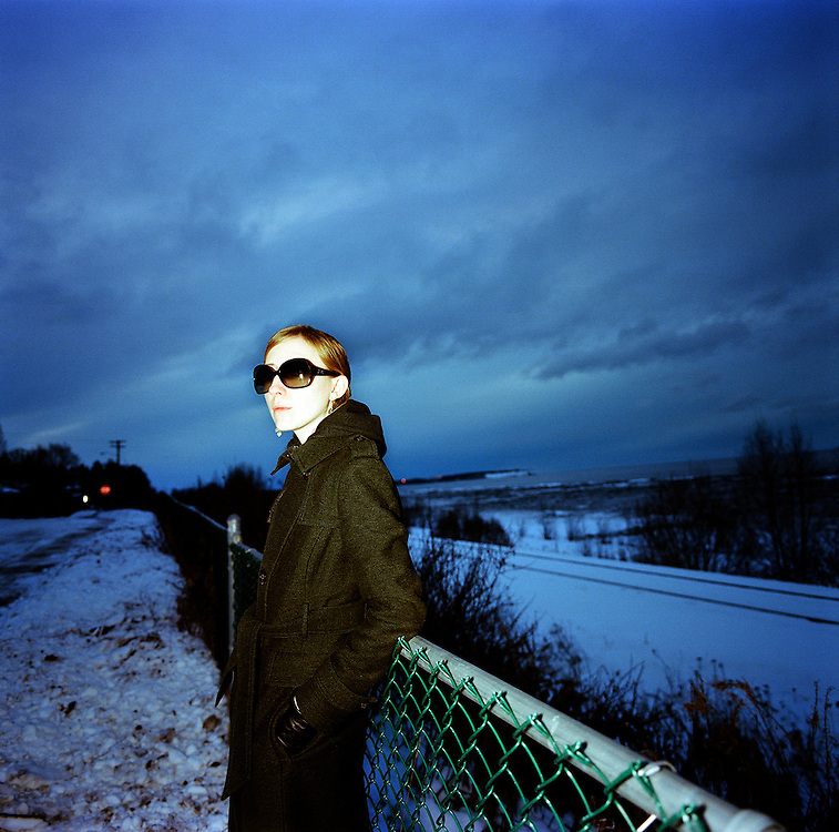 ANCHORAGE, AK - 2009: Writer and photographer Ash Adams.