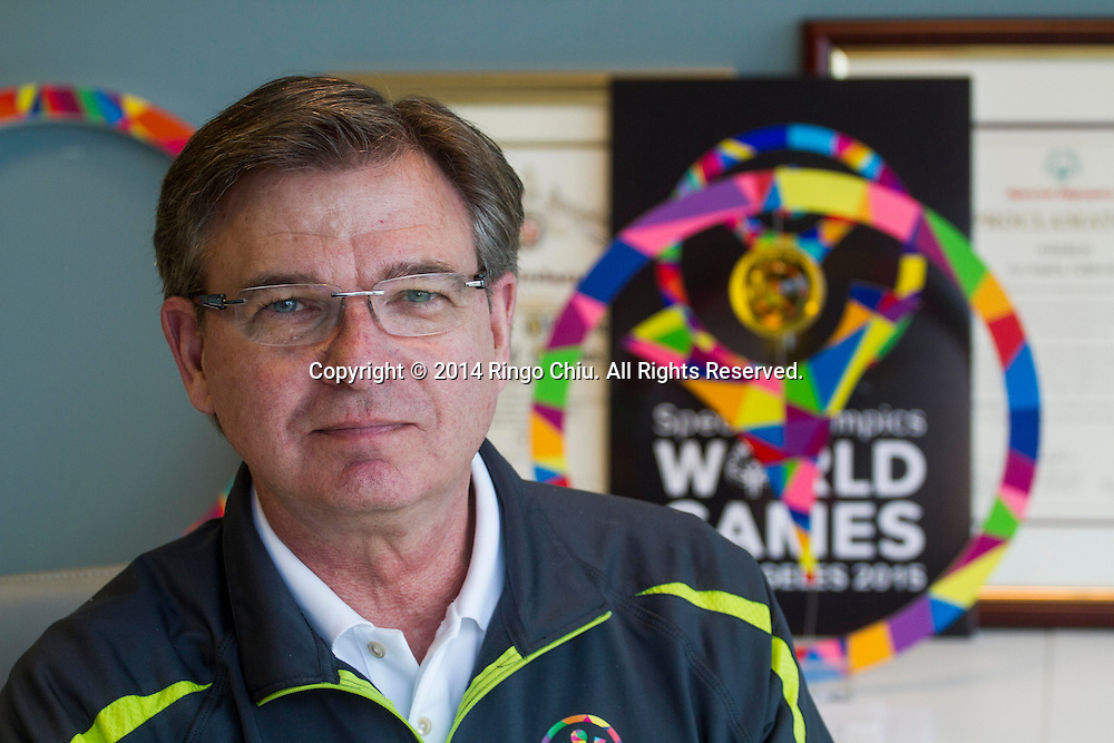 Patrick McClenahan, President and Chief Executive Officer of LA2015, the Organizing Committee for the 2015 Special Olympics World Games<br /> Photo by Ringo Chiu/PHOTOFORMULA.com)