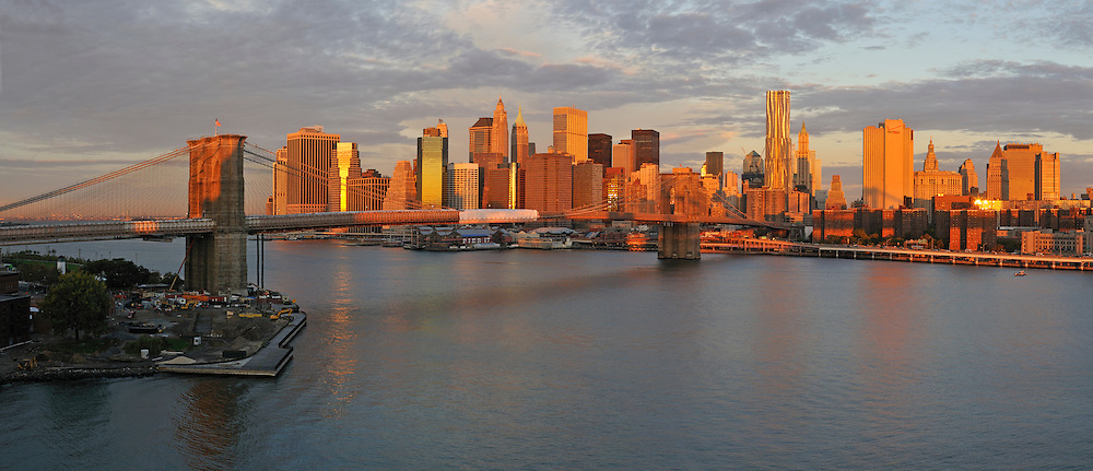 Early morning on East River NYC from Brooklyn