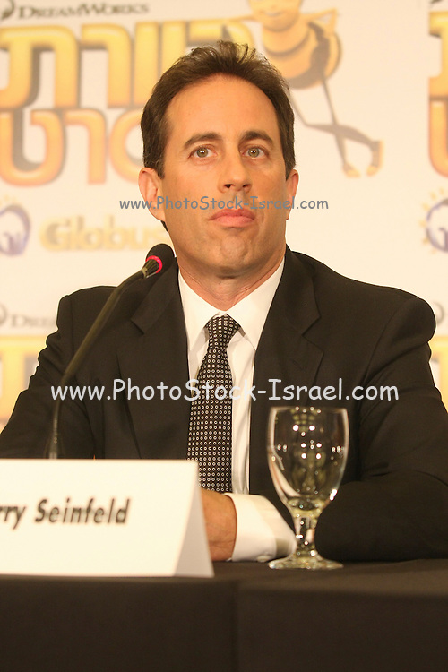 Israel, Jerry Seinfeld actor comedian in a visit to Israel November 25th 2007