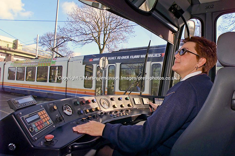 Supertram Driver Avril Webster.