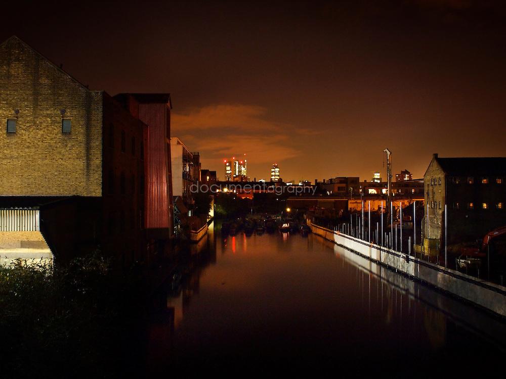 The city by night, London, UK.