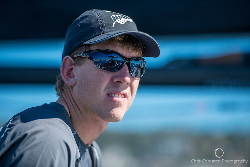Emirates Team New Zealand skipper Peter Burling, Day one of the Extreme Sailing Series at Nice. 2/10/2014