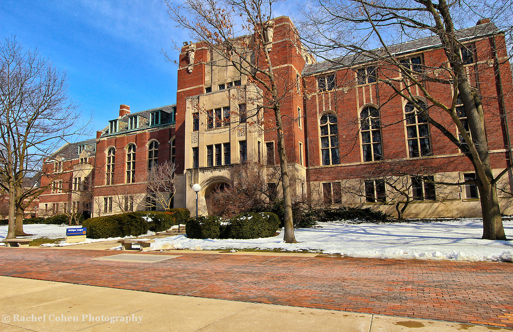 &quot;Michigan League&quot;<br /> <br /> The beautiful architecture of the Michigan League Building on the central campus of the University of Michigan in Ann Arbor. A wonderful wintertime view!!<br /> <br /> Architecture: Structures, buildings and their details by Rachel Cohen