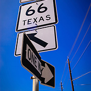 Road sign near Meshack's Bar-Be-Que, Garland, Texas