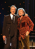 """David Lynch and Donovan 2007..in concert for the David Lynch Foundation for Consciousness-Based Education and the David Lynch book """"Catching The Big Fish: Meditation, Consciousness and Creativity"""" at the Kodak Theatre in Hollywood, January 21st 2007...Photo by Chris Walter/Photofeatures"""