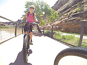 SHOT 5/9/16 11:24:15 AM - GoPro footage and stills of the Mag 7 trail, Fisher Towers and the bike trail along Highway 128 in Moab. Moab is a city in Grand County, in eastern Utah, in the western United States. Moab attracts a large number of tourists every year, mostly visitors to the nearby Arches and Canyonlands National Parks. The town is a popular base for mountain bikers and motorized offload enthusiasts who ride the extensive network of trails in the area. (Photo by Marc Piscotty / © 2016)