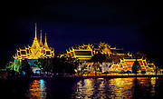 Bangkok's Grand Palace, Phra Borom Maha Ratcha Wang, as seen from the Chao Phraya River