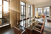 An interior of the penthouse at 7 Hubert Street in Tribeca, New York  City.