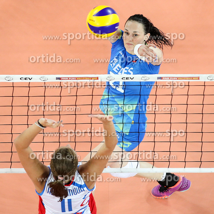 Tina Grudina of Slovenia during volleyball match between Slovenia and Slovakia in CEV European League Women on June 22, 2016 in Stozice, Ljubljana, Slovenia. Photo by Morgan Kristan / Sportida