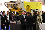 © Rob Arnold 11/03/2014. London, UK. A Schilling Work-Class Remote Operated Vehicle (ROV) at Oceanology International (OI) 2014, the world's largest exhibition for marine science and technology, which is held at London's ExCeL Centre. The three day exhibition provides an opportunity for industry, academic and government organisations to share knowledge and promote improvements in technology and strategy used for operating, surveying, protecting and exploiting resources in the oceans of the world. Photo Credit : Rob Arnold
