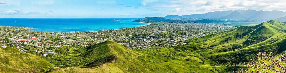 Kailua Bay & Kailua Town, Windward Oahu, Hawaii