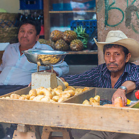 CHICHICASTENANGO , GUATEMALA - JULY 26 : Guatemalan vegetable sellers in the Chichicastenango Market on July 26 2015. This native market is the most colorful in Central America