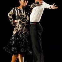 23 January 2010: Ekaterina Sokolova and Neil Jones perform during the Masters Bercy Latin and Ballroom (standard) Dancesport Championship 2010, at Palais Omnisports Paris Bercy, in Paris, France. .