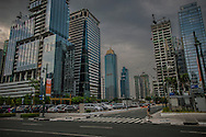 Bonifacio Global City looking very much like an Asian Tiger.  The Philippines has a growth rate that rivals China's now but many question who benefits from this economic boom time.<br /> <br /> The Atlantic Magazine wrote in, &quot;in 2012, Forbes Asia announced that the collective wealth of the 40 richest Filipino families grew US$13 billion during the 2010-2011 year, to US$47.4 billion--an increase of 37.9%&quot;, compared with 3.7% and 2.8% in Malaysia and Japan respectively over the same period.<br /> <br /> On the other hand, 32% of children suffered from moderate to severe growth stunting due to malnutrition, 60% of Filipinos will die without seeing a healthcare professional and 26.5% of Filipinos live on less than US$1/day.