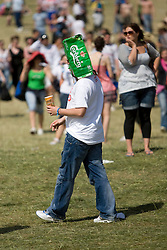 Fan near the main stage. Rockness, Sunday 8th June 2008..Pic © Michael Schofield. All Rights Reserved.