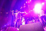 """Roberto Hernandez """"Roberton"""" sings at Thalia Hall with Los Van Van. This was the first trip to Chicago since 1999 for the Grammy winning Los Van Van."""