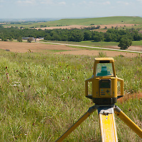 survey equipment on wind project