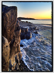 """Fort Foster dawn, Kittery, Maine. iPhone4s photo - file size is appropriate for print reproduction up to 8"""" x 12""""."""