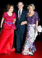 1-2-2014  ROTTERDAM NETHERLANDS  Prinses Margriet with Prince Pieter van Vollenhoven and princess Irene  arrives  for the celebration party for Queen Beatrix to thank her for being 33 years the Queen of the Netherlands COPYRIGHT ROBIN UTRECHT