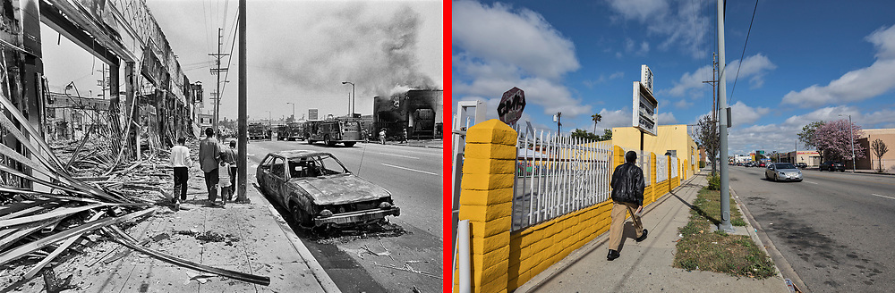 Before and after photos of W.Adams Blvd.<br /> <br /> 25 before and after LA92 photo project.