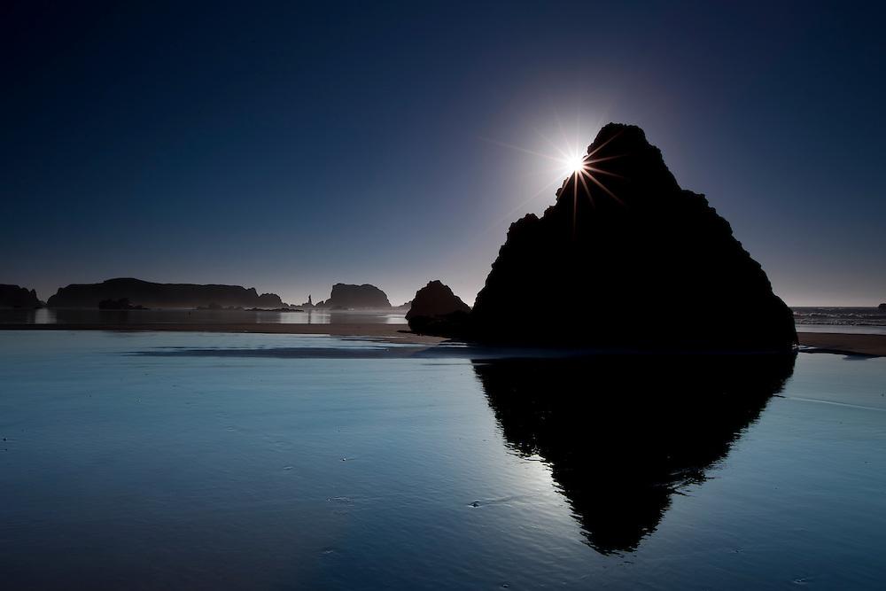 Monolithic rock on Bandon Beach on the Orgon Coast