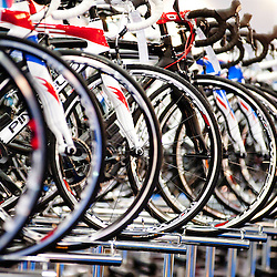 London, UK - 17 January 2013: Pinarello bikes during the London Bike show 2013 at Excel.