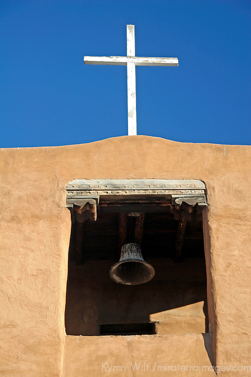 The San Miguel Mission in Santa Fe, New Mexico - said to be the oldest church in the United States, circa 1610.