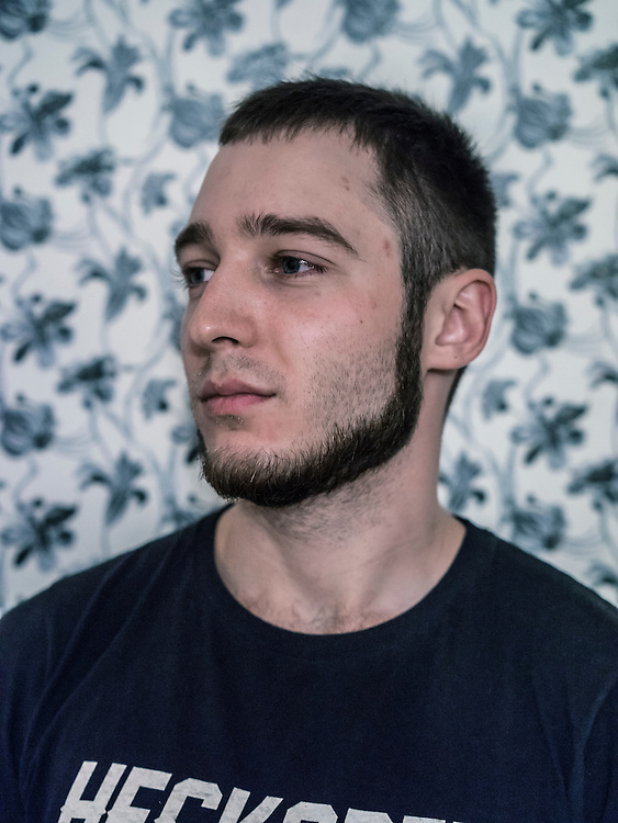 Maksim Pyakarski, who was arrested for spraypainting graffiti and charged with hooliganism, poses for a portrait on Monday, November 23, 2015 in Minsk, Belarus.