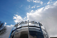 The entrance to the Borsheim's jewelry store in Omaha, Nebraska April 29, 2011, site of the Berkshire Hathaway shareholders reception. Borsheim's, a Berkshire Hathaway company hosted the event prior to the BH annual meeting April 30, 2011. REUTERS/Rick Wilking  (UNITED STATES)