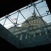 View of the Capitol Dome through the sky lights underground at the New visitors center under construction. Sandy Schaeffer Photography - Washington DC Photographer<br /> Corporate, Capitol Hill, Public Relations, <br /> Association, Portrait, and Commercial Photography.
