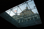 View of the Capitol Dome through the sky lights underground at the New visitors center under construction. Sandy Schaeffer Photography - Washington DC Photographer<br />
