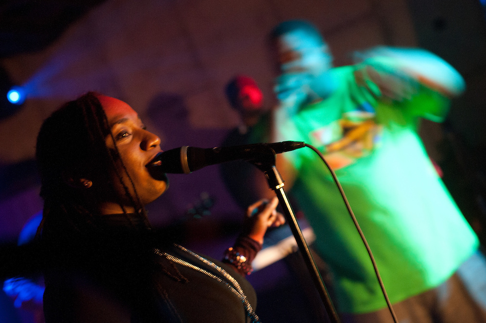 """Washington, DC  - Hip Hop Pantsula, Caralyn Malachi, Wayna, and The ELs join Asheru at Tropicalia for the """"Sleepless in Soweto"""" album release party."""