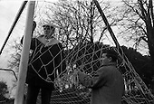 1962 - New goal nets at Belgrove Park, Mount Prospect Avenue