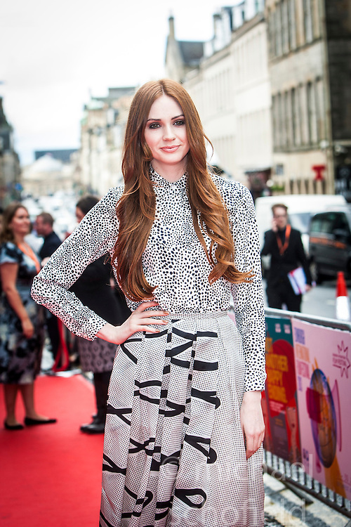 Karen Gillan.<br /> Closing night of EIFF gala screening of Not Another Happy Ending at the Festival Theatre.<br /> &copy;Michael Schofield.
