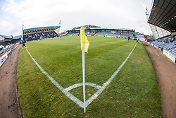 Looking towards the North Stand at Stark's Park, the home ground of Scottish football team, Raith Rovers F.C.