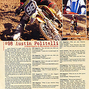 Images and an article of Austin Politelli was featured on page 12 in Desert Sports and Recreation Magazine Volumn 2, Issue 7.