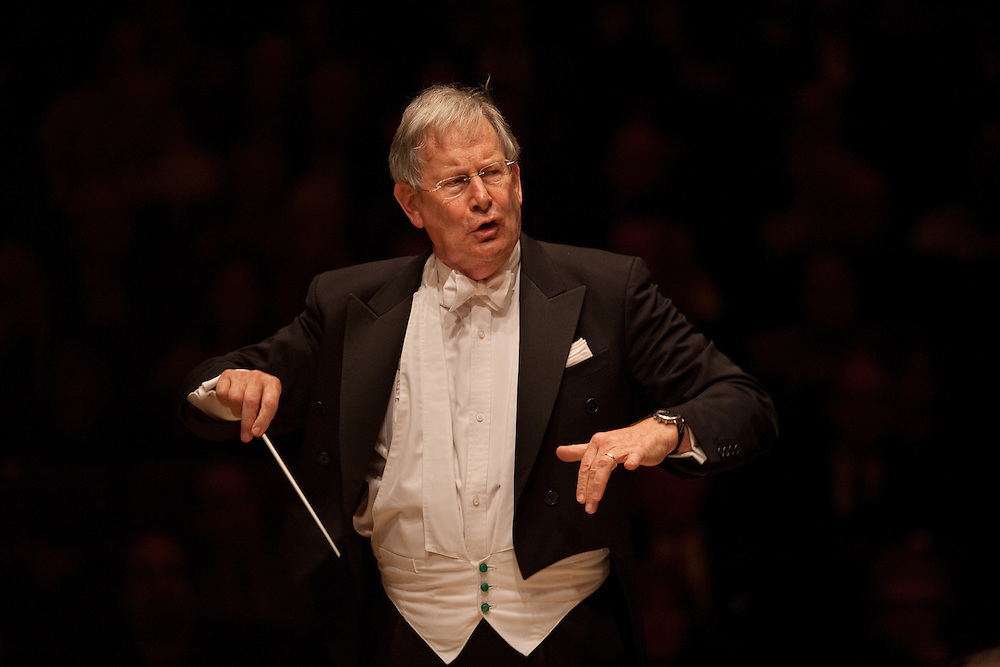Sir John Eliot Gardiner conducts Orchestre Revolutionnaire et Romantique performing Overture to Egmont, Op. 84, at the Isaac Stern Auditorium at Carnegie Hall in Manhattan, NY on November 16, 2011..