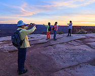 Chinese visitors to Dead Horse Point State Park, Utah.<br /> <br /> WATERMARKS WILL NOT APPEAR ON PRINTS OR LICENSED IMAGES.