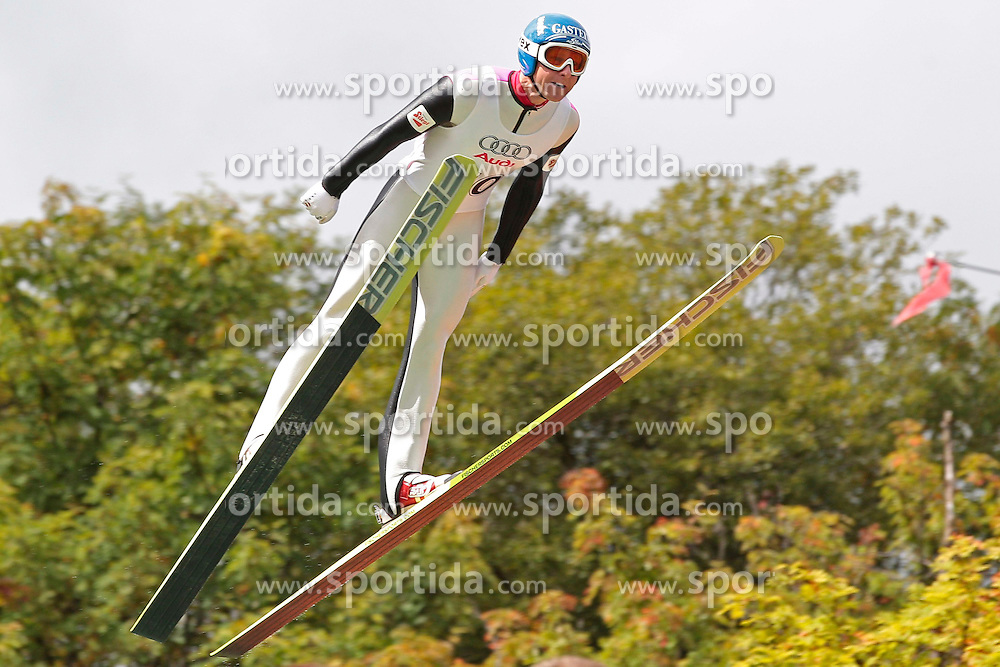 26.08.2012, Fichtelberg-Schanze, Oberwiesenthal, GER, FIS Nordische Kombination, Sommer Grand Prix, Herren, Skisprung, im Bild Bernhard Gruber (GER)  during Ski Jumping of mens FIS Nordic Combined summer grand prix at Fichtelberg-Schanze, Oberwiesenthal, Germany on 2012/08/26. EXPA Pictures © 2012, PhotoCredit: EXPA/ Federico Modica