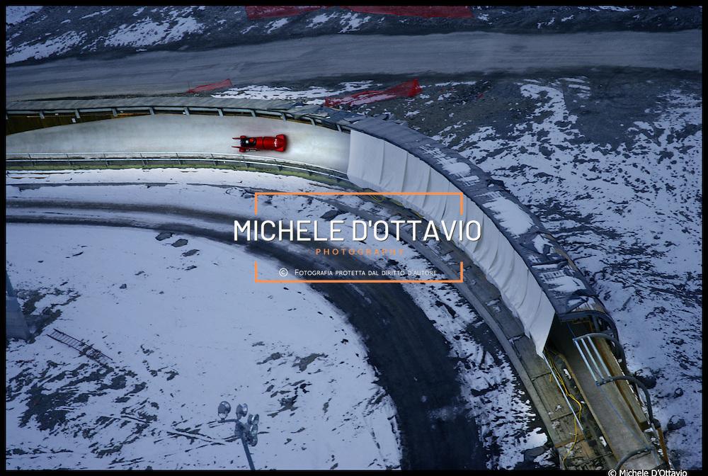 pista olimpica di bob-skeleton e slittino di Cesana-Sansicario (TO) in Val Susa