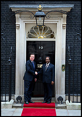 FEB 04 2013 David Cameron meets the President of Somalia AA