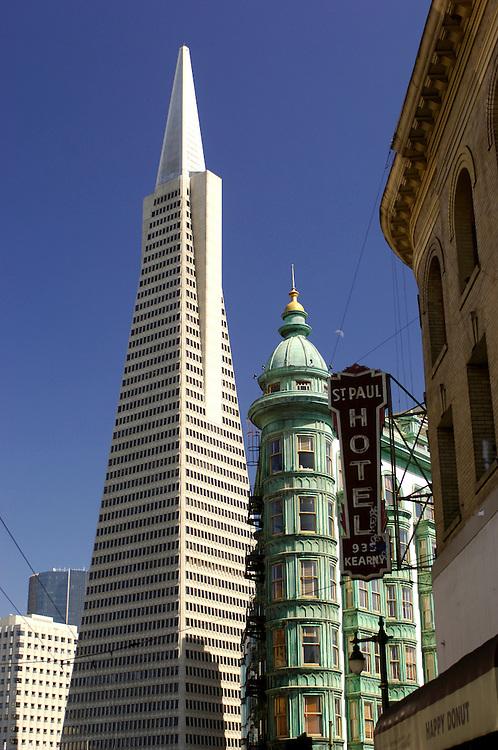 Transamerica Pyramid Building, North Beach, San Francisco, California, United States of America