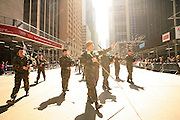 NEW YORK CITY - APRIL 9: Bagpipers at the Tartan Day Parade start in New York City.