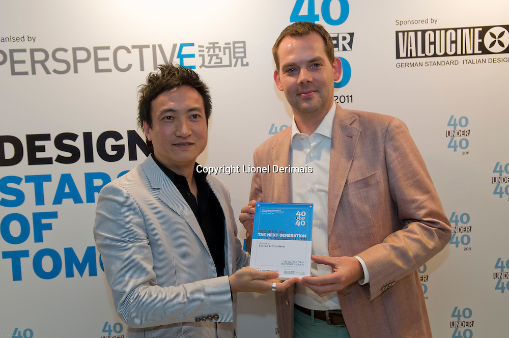 David Gianotten, architect, who runs OMA receives his 40 Under 40 Perspective magazine award.