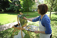 Linda Spargo was among students in an Ole Miss paint class painting pictures of the houses on North Lamar on Tuesday, May 18, 2010.